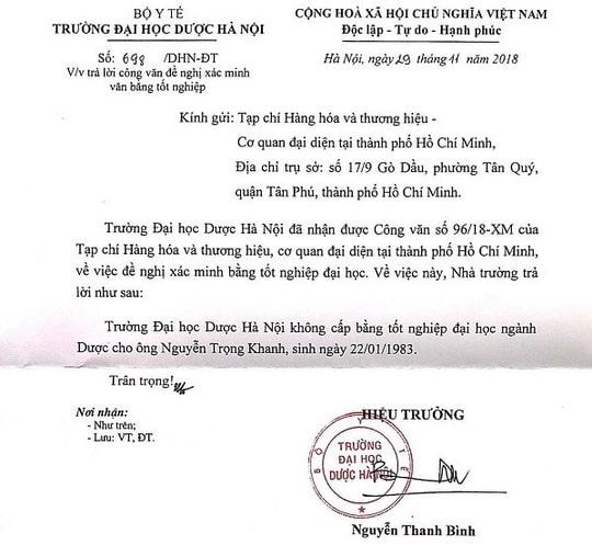 Phó Chủ tịch Hiệp hội Chống hàng giả Việt Nam dùng bằng giả