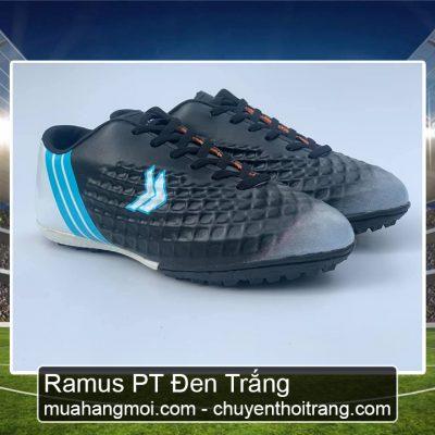 giày đá bóng ramus đen trắng.