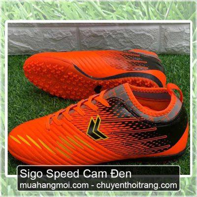 giày đá bóng sigo speed cam đen