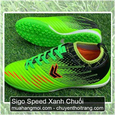 giày đá bóng sigo speed xanh chuối