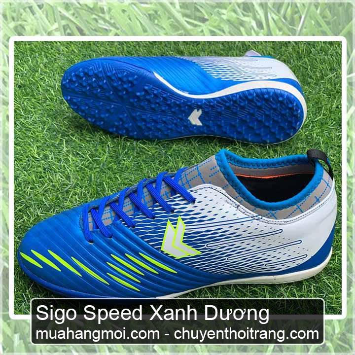 giày đá bóng sigo speed xanh dương