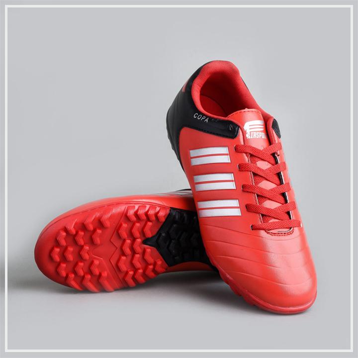 giày đá bóng màu đỏ 3 sọc